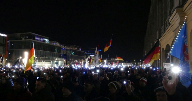 PEGIDA am 19. Februar 2018 in Dresden