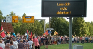 PEGIDA am 31. Juli in Dresden